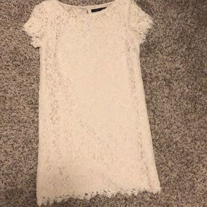Pretty white lace dress from Zara